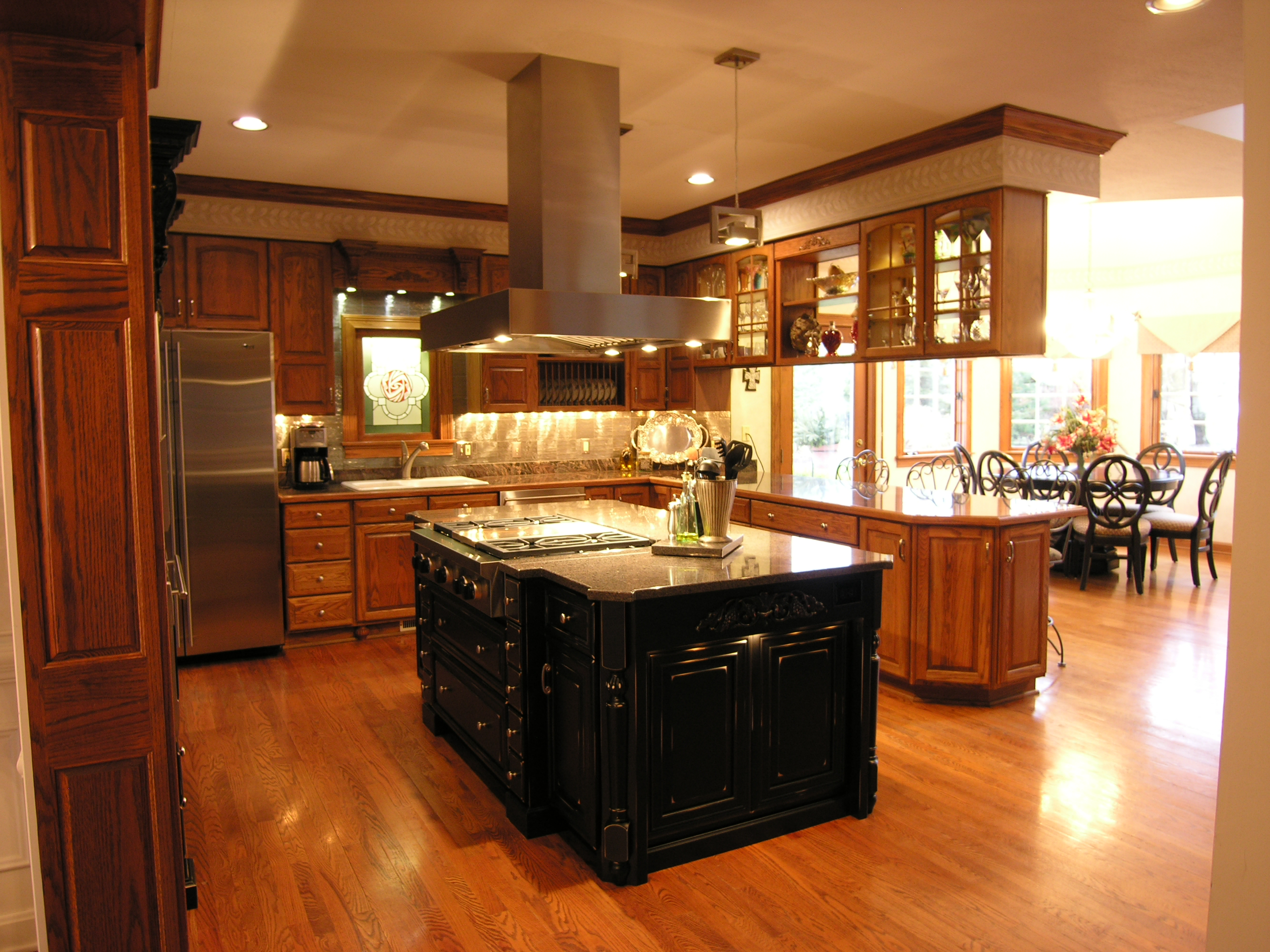 Kitchen island hood rmd designs llc for Show me kitchen designs